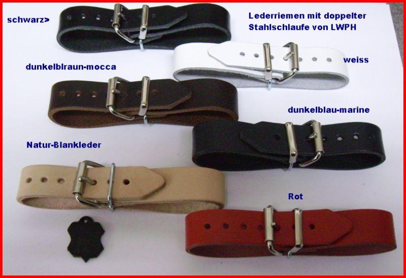 5 starke Lederriemen mocca dunkelbraun Leder 2,0 x 24,0 cm Kinderwagen Neu